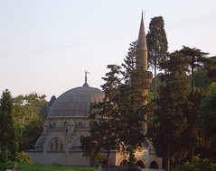 Turkey (Istanbul) Bebek Mosque (ustung) Tags: sunset turkey outdoor istanbul mosque bebek minarett