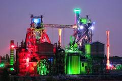 blast furnace Hochofen (Michael Schnborn) Tags: colorful industrial nightshot samsung nightlight bluehour lightning landschaftspark duisburg hochofen lapadu nx500 nx1650mmf3556powerzoom