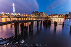 London's and Europe's tallest building as seen from the shore of the river Thames at night (Christine's Observations) Tags: new old london beautiful modern night is amazing ancient phillips happiness christine tall shard skyscraperreflections