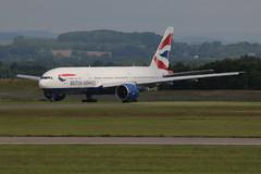G-VIIA parked outside. (aitch tee) Tags: aircraft parked boeing britishairways airliner walesuk cardiffairport bamc b777200 gviia maesawyrcaerdydd cwlegff