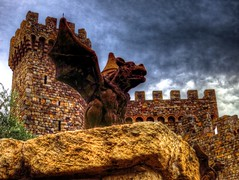 Napa Gargoyle (KnightedAirs) Tags: castle digital canon photography photo iron powershot gargoyle fixture hdr s100