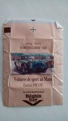 Srie Voitures de sport au Mans - Mercedes 300 SL 1952 01 (periglycophile) Tags: france sport sugar mans cube series packet say srie voitures sucre morceaux sucrology beghin priglycophilie