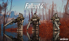 T-51b Power Armor (McLovin1309) Tags: t51 t51b power armor armour fallout 4 videogame gaming videogaming character post apoc apocalyptic assault rifle custom lego minifigure