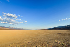 Desert at Death Valley, California, United States (philipchan32866) Tags: park blue sunset usa cloud sunlight white hot nature sunshine yellow landscape death evening us afternoon desert empty horizon dry sunny nobody vision national valley land recreation states hotness endless opportunities
