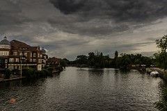after the rain (Ntino Photography) Tags: uk bridge sky house water river landscape outdoor riverbank riverthames cloudysky eton sigma1020mm canon600d