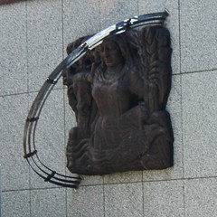 Chicago Rising from the Lake (greyloch) Tags: sculpture chicago art bronze relief 2016