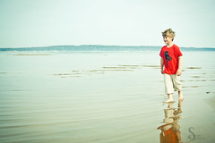 Walking on Water (corinne.schwarz) Tags: vacation nature outdoors spring michigan lakemichigan traversecity upnorth