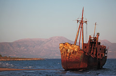 a shipwreck  ... (Monika Strataki) Tags: from abandoned by rust decay archive mani greece shipwreck monika photographed griechenland verfall dimitrios  gythio strataki