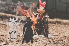 Celebrations (Kilkennycat) Tags: canon toys fire starwars 50mm14 burn darthvader pyre deadmouse 500d kilkennycat t1i ryanconners byeminnie screwdisney
