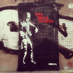 The ideal citizen. #mogul #stockholm #sdermalm #streetart #latergram (swecficklampa) Tags: square squareformat iphoneography instagramapp uploaded:by=instagram