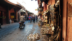 Marrakech Souk (Travel Quintessence) Tags: africa street sunset horses food sun streets tower sahara pool beautiful gardens breakfast shopping square lunch cafe pretty tour desert market north markets bikes palace mosque steam ramparts heat marrakech souk medina monkeys walls hotels colourful snakes crowds sofitel stalls humid crowded riad koutoubia jemaa riads elfnaa marrakechsunrise tajean