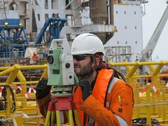 Concentration (thulobaba) Tags: leica construction offshore platform engineering surveys jacket northsea 1201 surveyor 1101 surveying totalstation fugro eldfisk tcra