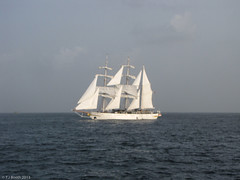 STW3: Arriving at Kochi, India. A sail with the Indian Navy (Tim Booth) Tags: atsea jubileesailingtrust sailtheworld stw3 theindianoceansrilankatoindia