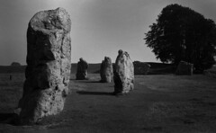 The Barber's Stone looking towards Devil's Chair (Paul Snelling) Tags: monochrome standingstones wiltshire prehistoric avebury neolithic stonecircle