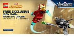 LEGO Avengers Exclusive: Iron Man vs. Fighting Drone (LEGODeathWatch) Tags: man iron lego vs fighting avenger drone