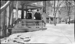 Winter in Meyersdale, Pa. with William and Louise Livengood (Meyersdale Public Library) Tags: 1920s houses people men women hats 1910s 1900s meyersdale porches williamslivengood louiselivengood imleralbum