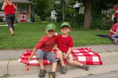 Alistair and Cameron enjoy Canada Day festivities in Glen Williams