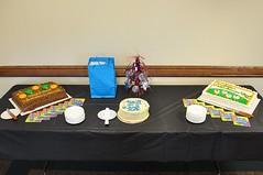 Dr. Bradford's Retirement Cakes -:- 0011 (buddhadog) Tags: cake three bradford 100 retirement sbi