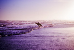 Surfer (agusbobadilla) Tags: life pink beach water sunrise fun surf enjoy