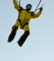 John swooping in just 10 feet over me (firstfire53) Tags: skydiving skydive swoop skydiver swooping skysthelimit