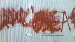 Graffiti on the bus shelter