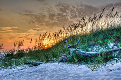 sunset2_hdr-1 (Dave Pope Photography) Tags: sunset beach sand florida destin hdr