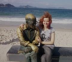 with drummond (biikmcr) Tags: ocean girls friends sea sky beach girl brasil ginger day rj redhead writer drummond