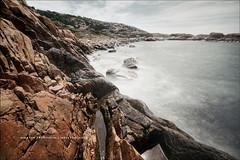 Western Gale   1st view (martin fredholm) Tags: longexposure sea summer island coast waves sweden july gale cliffs seashore hdr archipelago bohuslän 2013 3exposures nd110 otterön