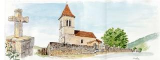 croix sur la route de l'église, Cels