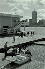 Pierce Boathouse (dtanist) Tags: film boston analog boats 50mm pentax kodak mit massachusetts pierce boathouse smc ricoh bw400cn pentaxm xrm