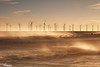 Spray (Dave Brightwell) Tags: light sea sunlight seascape canon waves cleveland spray hitech windfarm turbines seatoncarew bwnd davebrightwell