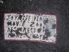 New Classic Message Toynbee Tile 7212 (Brechtbug) Tags: street new york 2001 city nyc november classic by tile dead idea message manhattan severino midtown made tiles covered planet jupiter kubricks 50th avenue 5th toynbee named verna tar crumbling sevy possibly reclusive resurrect uncovered partially 2013 philadelphian 11072013