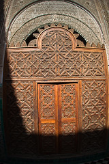Fes, medersa - august 2013 (StefanoMajno) Tags: africa door wood travelling islam morocco fez marocco ecole fes stefano medersa 2013 majno coranique