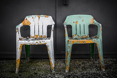 Flake out (Flipper24.) Tags: chair decay seat worn sigma1770mm d7100