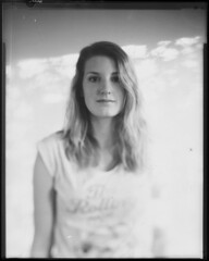 Aimee (Heatherrrr.Marie) Tags: camera light white black blur film college girl self student view stones shift ombre blonde tilt developed rolling speckled arista