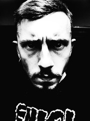 You talking to me? (J.Bushell) Tags: light portrait white black me self myself cool scary key moody you awesome low enjoy portraiture angry mean talking iphone selfie noirfilter