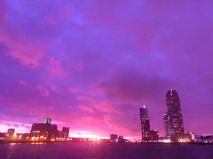 Sunset Rotterdam | 14 (Hipstagirl 2011) Tags: winter sunset sky holland clouds skyscraper buildings zonsondergang rotterdam neworleans watertower nederland wolken colourful montevideo lucht kopvanzuid gebouw watertoren rivier derotterdam katendrecht rijnhaven skylinerotterdam codrico floatingpavillion drijvendpaviljoen