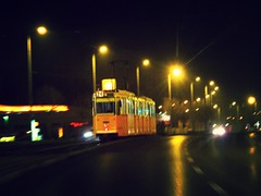 354/365 - 20/12/2013 (oana-emilia) Tags: nightphotography light urban travelling night lights moving movement europe hungary traffic budapest transport tram transportation trams hungarian day354 shuttersisters shuttersister day354365 3652013 365the2013edition 20dec13