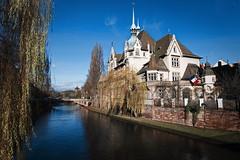 Depuis la rue des pontonniers (pont St Etienne) (wautierp) Tags: house france water river nikon eau rivire strasbourg reflet ill reflect maison acdsee
