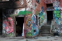 Eisfabrik Berlin (bsdphoto) Tags: winter streetart berlin art deutschland graffiti kunst eingang urbanart treppe architektur gebude deu eisfabrik denkmalschutz wohnungsnot baudenkmal fabrikruine obdachlosigkeit fabrikgebude ausenaufnahme verlassenesgebude leerstehendefabrikruine