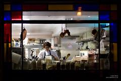 Pont de la Tour (cybertect) Tags: london cooking window kitchen restaurant chef shadthames se1 londonse1 pontdelatour canonfd85mmf12l sonya7