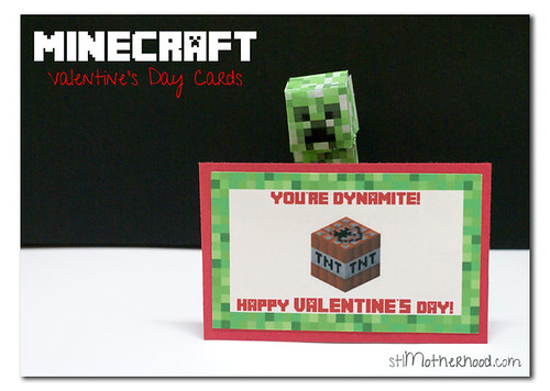 photograph about Minecraft Valentine Box Printable known as Deliver it a Minecraft Valentines Working day