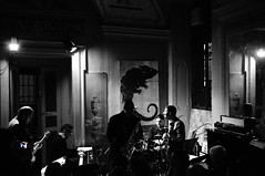 New Magazine @ Zingar Jazz Club (lorenzog.) Tags: bw italy music club nikon italia live jazz faenza 2014 d300 newmagazine italianjazz zingar vision:outdoor=0823 vision:dark=0708