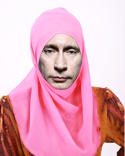 Photo Propaganda:  Over 90% of Putin images from the MSM are negative such as this one.