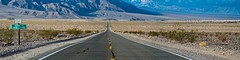 Sea Level (Trudy -) Tags: road mountain nature sign outdoors highway deathvalley pah sealevel