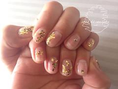 Ssssparkle!!! (cono di conifere) Tags: gold star nail mani clear nailart treatment sequined gelnail