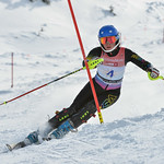 Madison HOFFMAN of Australia takes 1st Place in the U14 Girls Slalom Race held on Whistler Mountain on April 6th, 2014. Photo by Scott Brammer - coastphoto.com