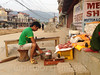 Butcher (whitworth images) Tags: street city nepal man shop outdoors person raw steps goat meat sidewalk butcher cutting pokhara weighing foothpath kaski jarebar