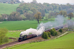 44932 - Steam in the Landscape (geoffspages) Tags: shropshire railway steam stokesay black5 44932