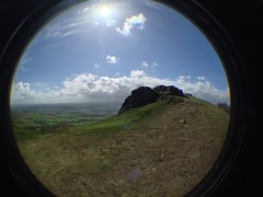 Nearing Wrekin Edge (CoasterMadMatt) Tags: uk greatbritain england mountain fish eye english season lens landscape photography countryside spring scenery shropshire photos unitedkingdom top united hill great scenic kingdom telford fisheye attachment gb summit april british britian fisheyelens iphone the 2014 wrekin shrops thewrekin neartelford coastermadmatt april2014